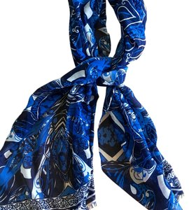 Charming Charlie Blue Paisley Scarf