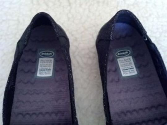 Dr. Scholl's Black with Silver Threads Flats