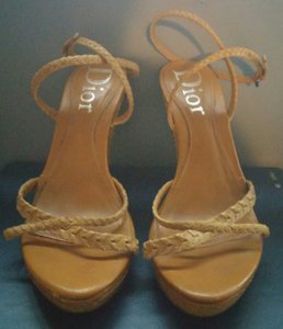 Dior Braided Leather tan brown Sandals
