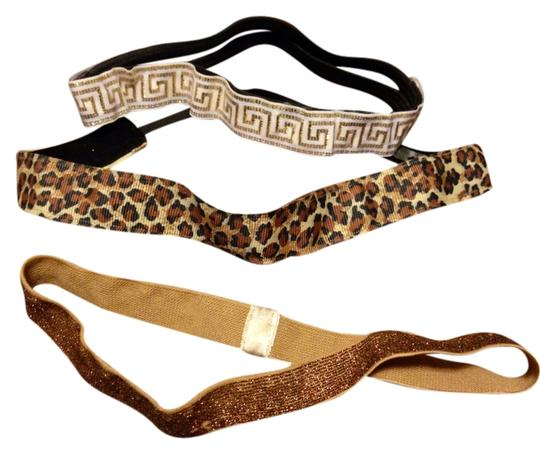none Gold Stretch Headbands Set Of 3
