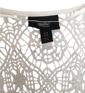 Mossimo Supply Co. White sheer/crochet Swim cover-ip