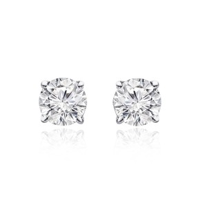 Avital & Co Jewelry 1.05 Carat Round Brilliant Cut Diamond Stud Earrings 14k White Gold