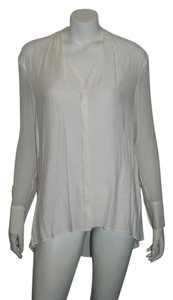 Helmut Lang V-neck Draped Top White