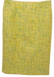 David Meister Skirt Lime Plaid