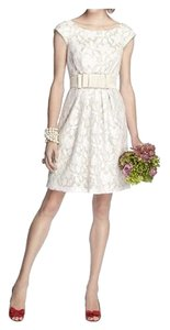 Dessy Length Cap Sleeves Lace Dress