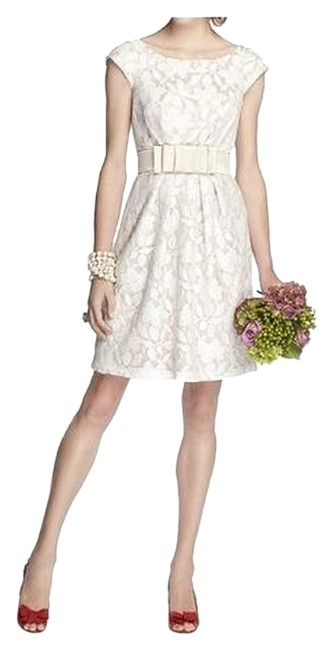 Item - Passion / Ivory 5704 Short Cocktail Dress Size 10 (M)