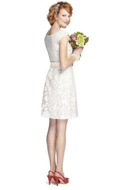 Dessy Length Cap Sleeves Lace Dress Image 1