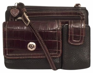 Brighton Leather Organizer Travel/weekend Cross Body Bag