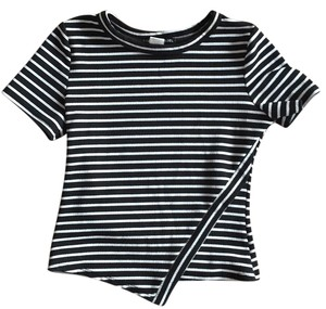 Absolute Angel T Shirt black and white striped