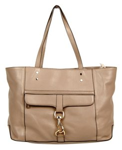 Rebecca Minkoff Bowery Rm Leather Tote in Taupe