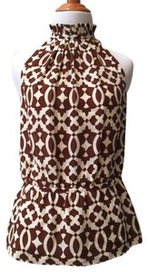 Tory Burch Top Brown and white