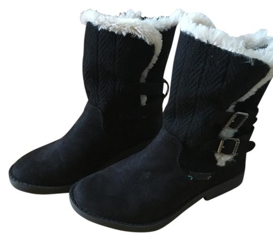 Preload https://img-static.tradesy.com/item/14629210/black-suede-knit-buckles-zipper-faux-fur-bootsbooties-size-us-8-regular-m-b-0-1-540-540.jpg
