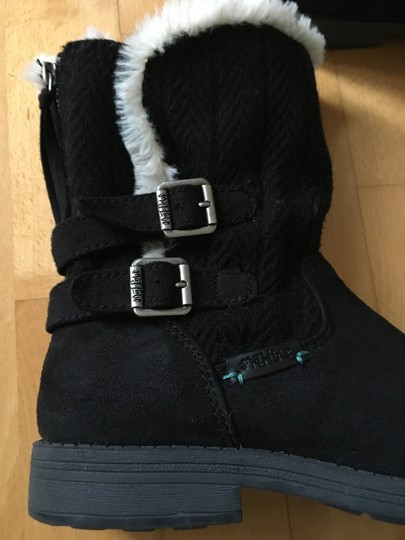Other Suede Knit Buckles Zipper Faux Fur Black Boots Image 5