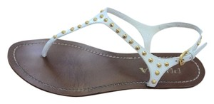 Prada Studded White Sandals