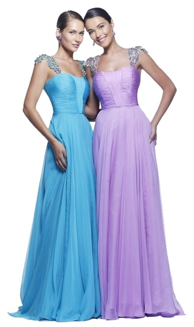 Sherri Hill Prom 11087 12 Empire Waist A-line Chiffon Dress