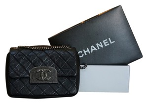 Chanel Distressed Leather Monogram Limited Edition Shoulder Bag