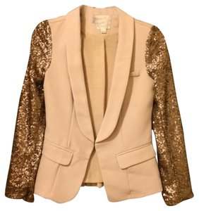 Line & Dot Sparkles Holiday Christmas Cream/Sparkle Blazer