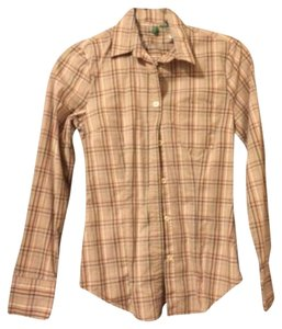 United Colors of Benetton Burberry Button-up Christmas Button Down Shirt Plaid