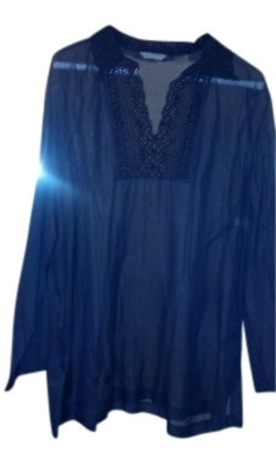 Preload https://item5.tradesy.com/images/liz-claiborne-dark-navy-blouse-size-14-l-146314-0-0.jpg?width=400&height=650