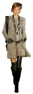 Chanel Chanel Black/Cream Chenille Boucle Coat