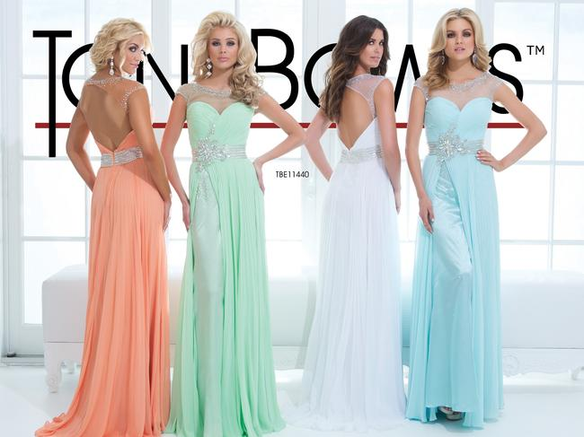 Tony Bowls New Prom Tbe11440 Size 10 Lace Embroidered Over Lay Dress