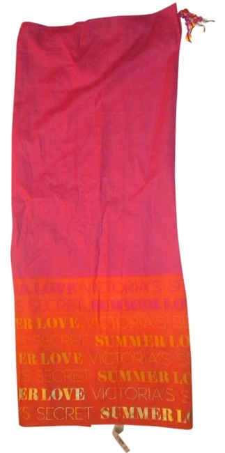 Item - Pink Orange Yellow Gold Cover-up/Sarong Size OS (One Size)
