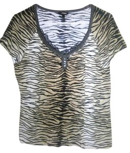 Escada Tiger Top Multi Color Animal Print