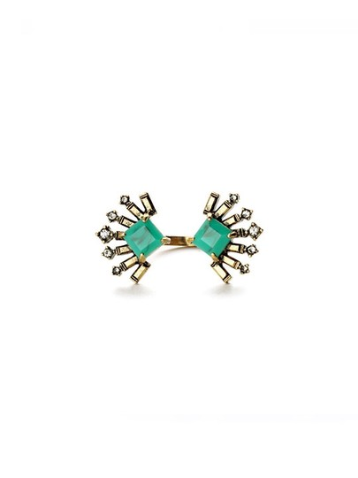 Other Emerald Green Crystal Fan Ring Image 1