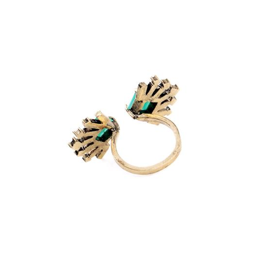 Other Emerald Green Crystal Fan Ring Image 2
