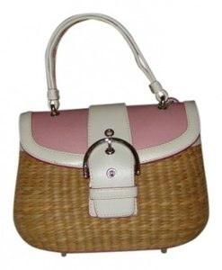 Coach Satchel in Pink and Natural