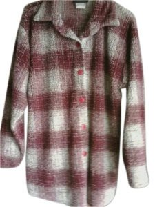Other Button Down Shirt crimson and cream