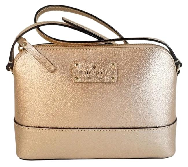 Item - Ny Wellesley Hanna Phone Wallet Rose Gold Leather Cross Body Bag