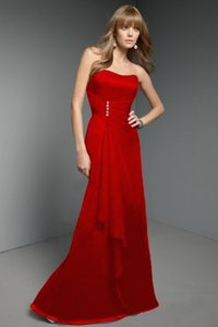 Mori Lee Claret Modern Bridesmaid/Mob Dress Size 4 (S)