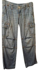 True Religion Loose Fit Cargo Jeans-Light Wash