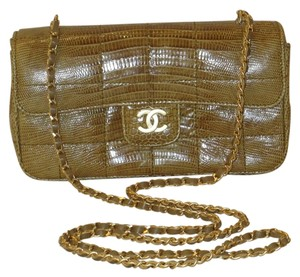 Chanel Precious Skin Lizard Evening Handbag Mini Shoulder Bag
