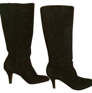 Banana Republic Suede Classic Black Suede Boots