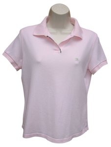 Burberry London Polo Pique Cotton T Shirt Pink
