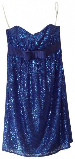Preload https://img-static.tradesy.com/item/146351/betsey-johnson-blue-sparkly-sequin-stunning-o-x-small-xs-extra-small-above-knee-night-out-dress-size-0-0-650-650.jpg