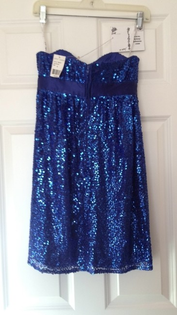 Betsey Johnson Sequin Formal Short New With Tags Gown Prom Dance Royal Wedding Shine Sparkly Sparkle Fresh Whimsical Flowy Oo O 0 Dress