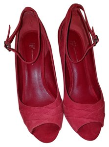INC International Concepts Peep Toe Red Pumps