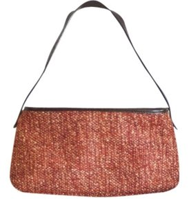Banana Republic Vintage Satchel in Tweed Brick Red / Orange