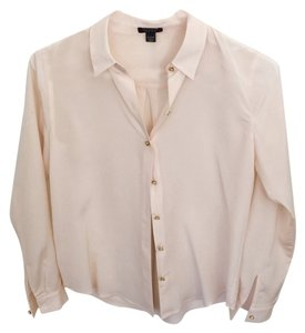 Ann Taylor Silk Delicate Top Pink