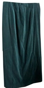 Freeport Studio Washable Velveteen Like Skirt Dark Green