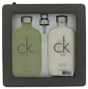 Calvin Klein CK ONE ~ Gift Set -- 6.7 oz EDT Spray + 6.7 oz Body Moisturizer