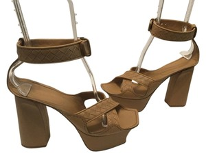 Bottega Veneta All Leather Carmel Platforms