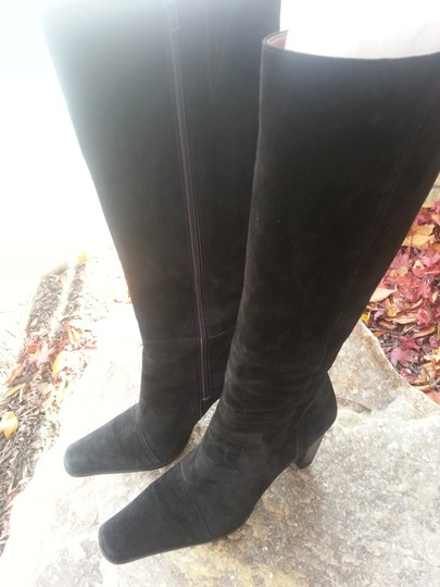 Nine West Black Suede Leather Boots