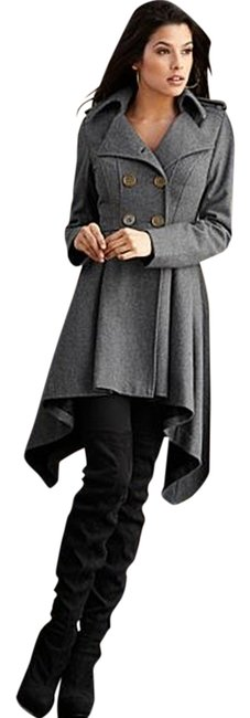 Other Peacoat Gray Wool Jacket Victorian Double-breasted New Coat