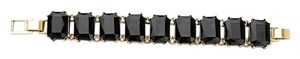 Other Black Emerald Cut Stone Bracelet