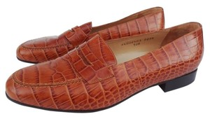Ralph Lauren 10 Croc Brown Flats
