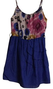 Anthropologie short dress Blue white on Tradesy